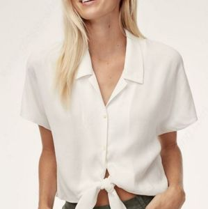 Aritzia Wilfred Free Tie-Front Blouse Size Small